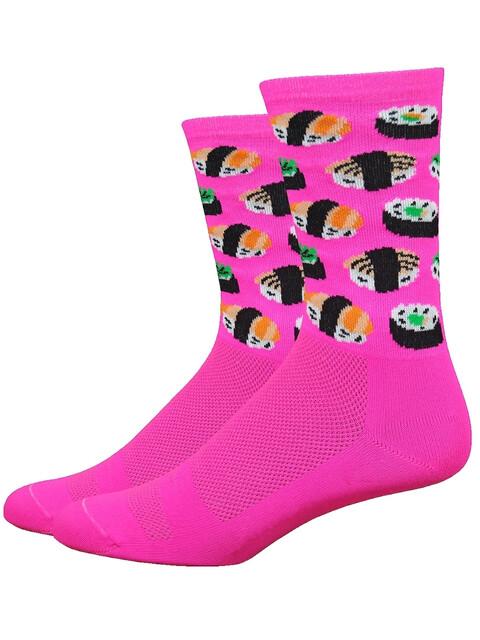 "DeFeet Aireator 6"" Socks Sushi (Hi-Vis Pink)"